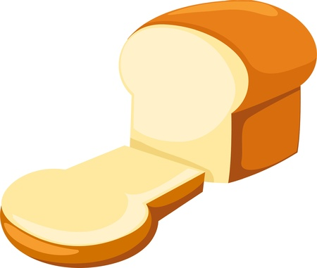 toast bread: illustration Bread Illustration