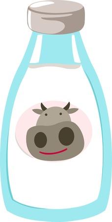 Ilustración vectorial de archivo: Ilustración de la leche