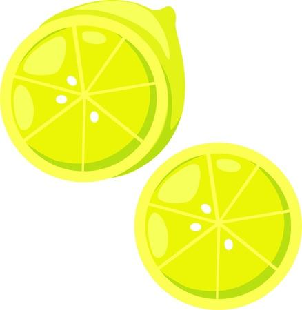 illustration lemon Vector