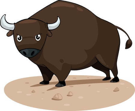 illustration cartoon bull Vector