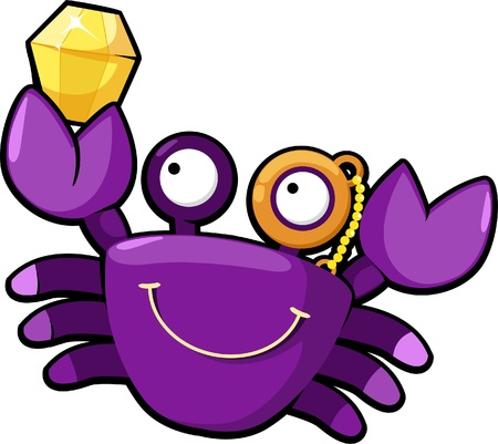 illustration crab Vector
