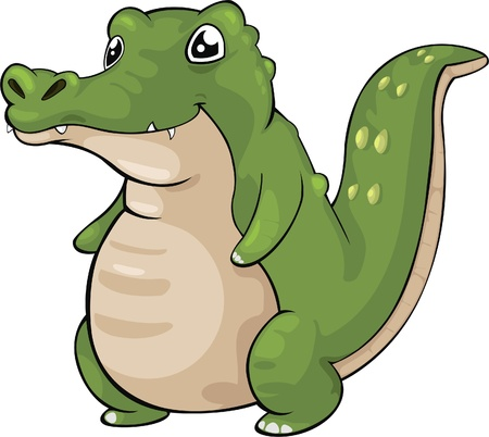 illustration Crocodile  Vector