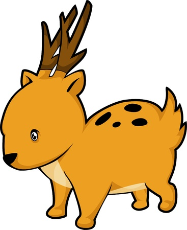 illustration deer  vector file Stock Vector - 12702788