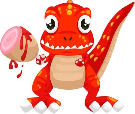 illustration cartoon dinosaur vector  Vector