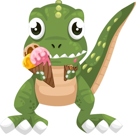 illustration cartoon dinosaur vector  Stock Vector - 12702683