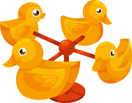 Carousel duck  Stock Vector - 12702677