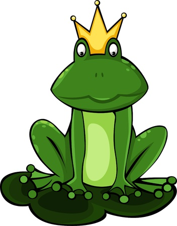 illustration King frog vector file  Vector