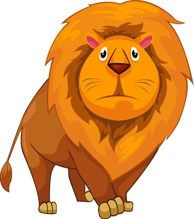 illustration cartoon Lion vector Vector