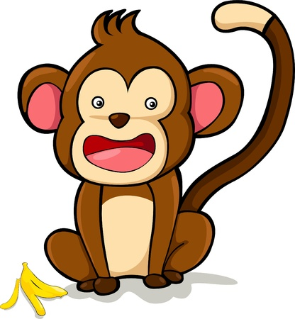 illustration monkey  vector file  Vector