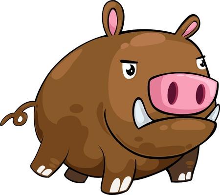 illustration boar vector file
