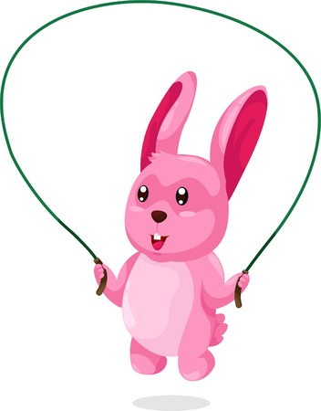 rabbit exercise vector  Stock Vector - 12702572