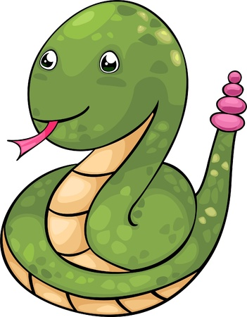 venomous snake: serpiente ilustraci�n vectorial archivo