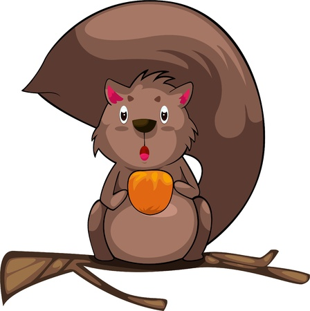 illustration cartoon Squirrel vector  Stock Vector - 12702709