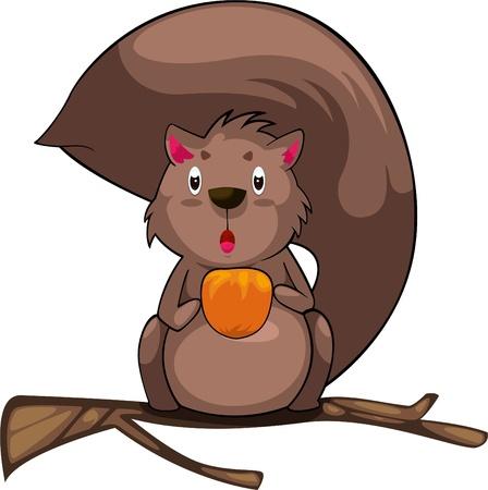 illustration cartoon Squirrel vector