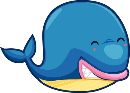 illustration Whale vector file Stock Vector - 12702583