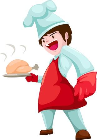 chef vector illustration isolated on white background  Illustration