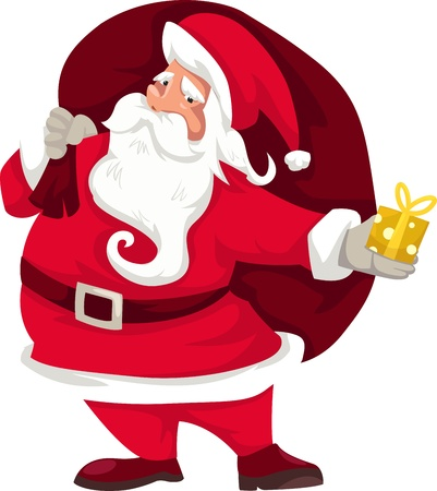 illustration of isolated santa claus vector  Vector
