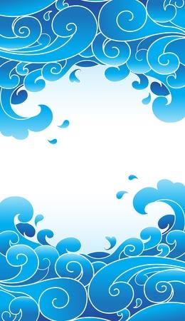 vector water wave  Vector