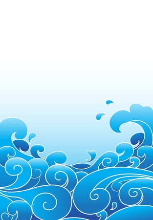 wave pattern: vector water wave
