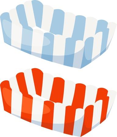 ocas: plato de papel de archivo vectorial sobre fondo blanco