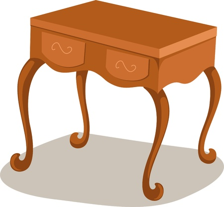 living rooms: Table Vector