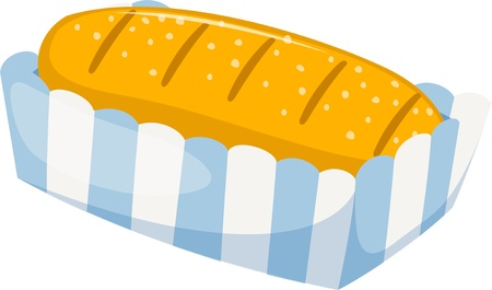 bread and butter: bread isolated vector illustration  Illustration