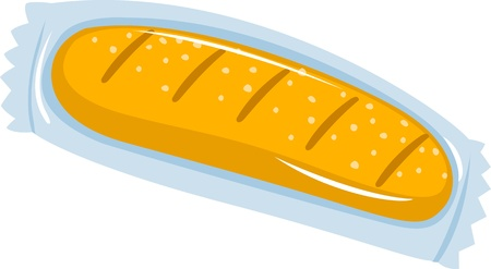 bread isolated vector illustration  Vector