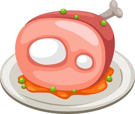 jamon: carne de ilustraci�n vectorial aislados