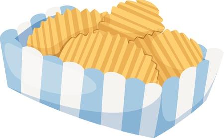 Aardappel geïsoleerde vector illustratie
