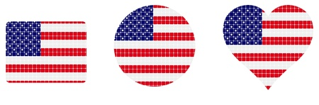 us flag isolated in white background  Vector