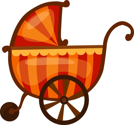 stroller: Baby stroller  Illustration