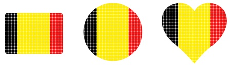 threateningly: flag Belgium isolated in white background