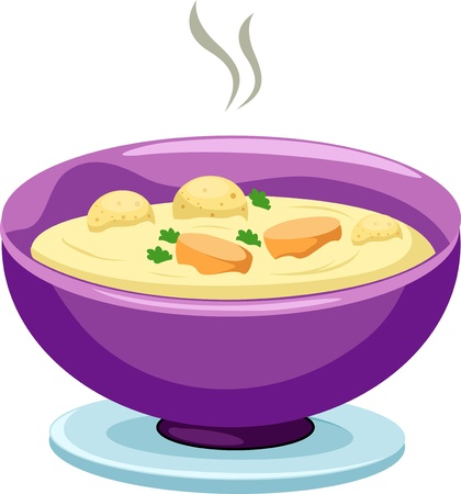 vegetable soup: Bowl of mild soup