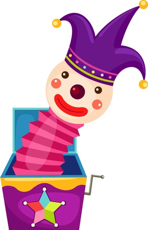 Bozo magic box Vector