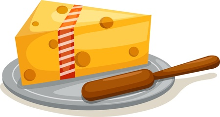 Cheese with stick Stock Vector - 12702843