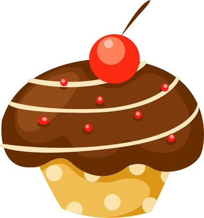 Chocolate cupcake vector Vector