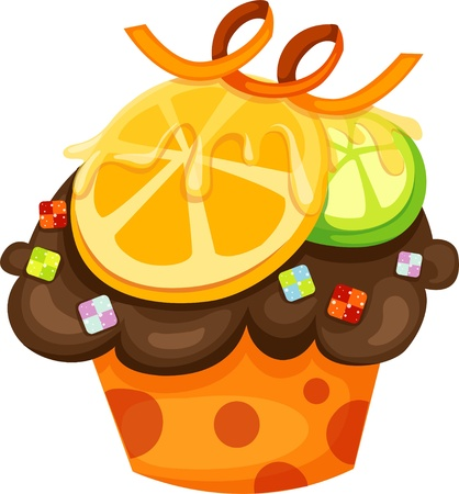 Chocolate cupcake Stock Vector - 12703072