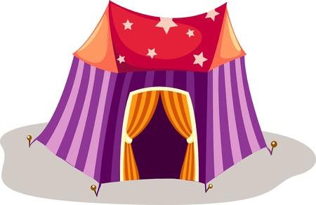 Circus Tent  Stock Vector - 12703052
