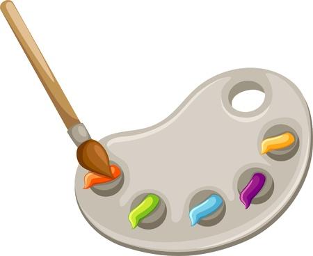 descriptive color: Color palette illustrations