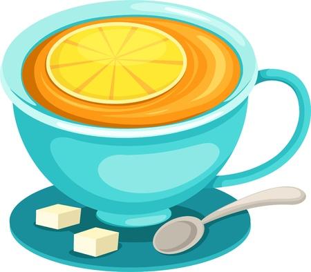 Cup of lemon tea Vector
