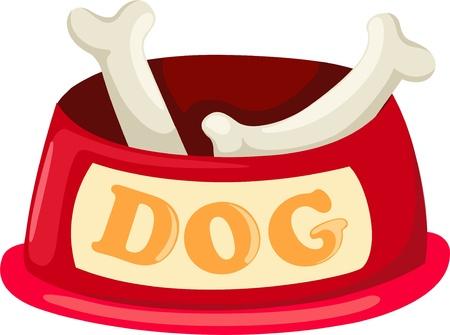 ciotola: Doggy ciotola Vettoriali