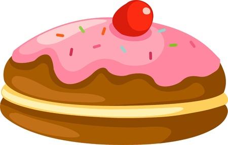 cookery: donut vector  Illustration