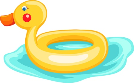 Duck life ring  Vector