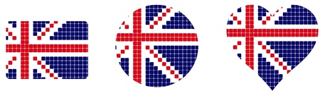 lapel: flag Britain isolated in white background