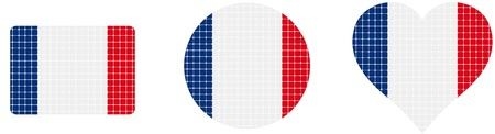 France flag isolated in white background  Vector