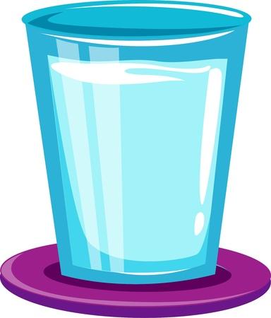 reflectie water: Glas water Stock Illustratie