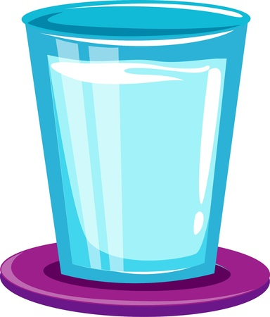 grey water: Glass of water  Illustration