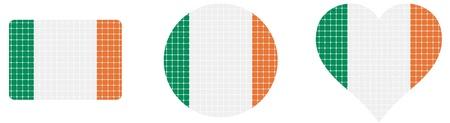 eire: Ireland flag isolated in white background