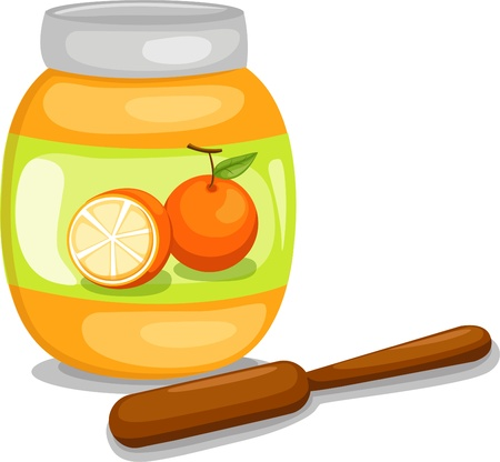 Jam jar  Illustration