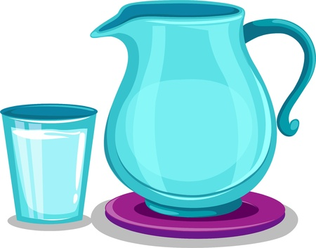 glass containers: Jug and glass